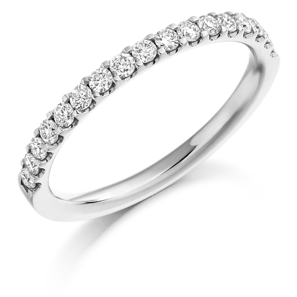Half Eternity Ring With Engagment Ring