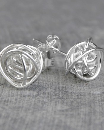 nest-silver-stud-earrings