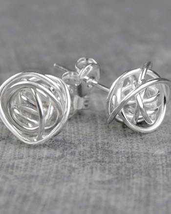 nest-silver-stud-earrings