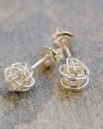 tiny-nest-silver-stud-earrings