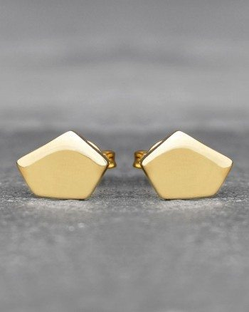 geometric-pentagon-gold-stud-earrings