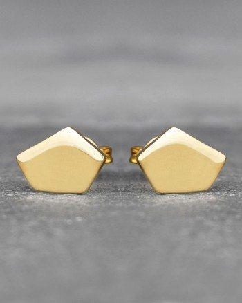 geometric-pentagon-gold-stud-earrings