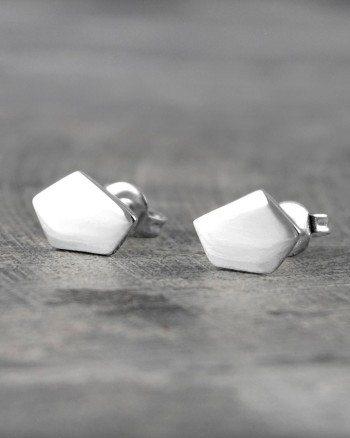 geometric-pentagon-silver-stud-earrings