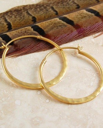 small-hammered-gold-hoop-earrings