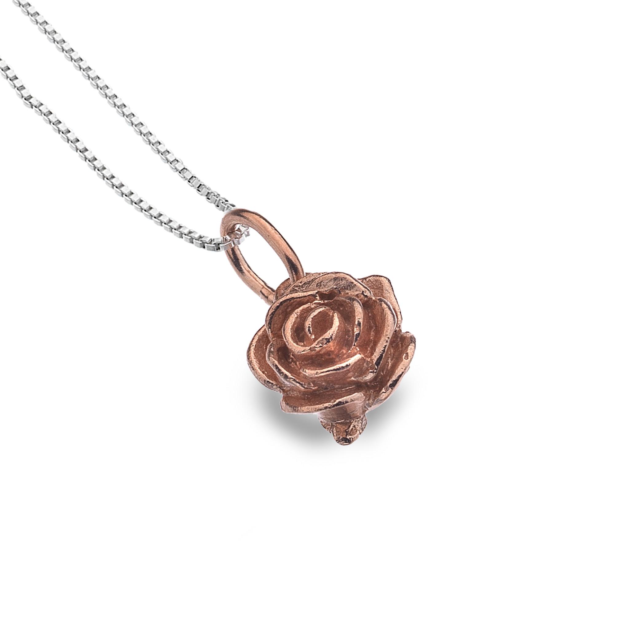 f6f6238c6 Sterling Silver & Rose Gold Vermeil Rose Pendant | Reppin & Jones ...
