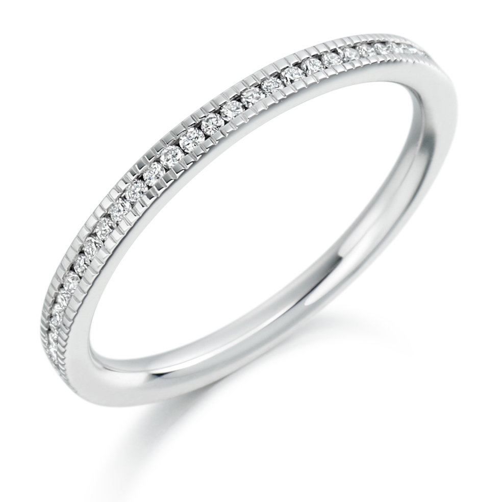 diamond ring gold vintage engagement product white in milgrain