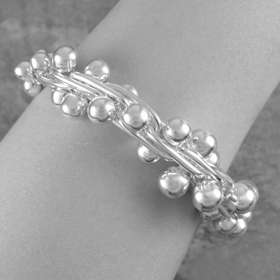 graduated-peppercorn-chunky-silver-bracelet-1