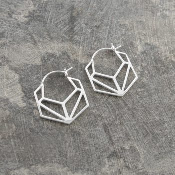 oval-geometric-silver-hoop-earrings-3