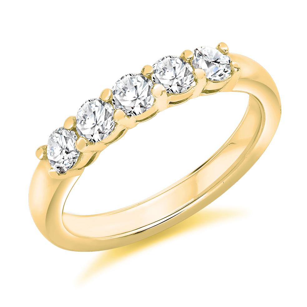Ct Gold  Stone Diamond Half Eternity Ring